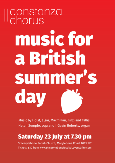 Poster for Constanza Chorus Music for a British Summer's day