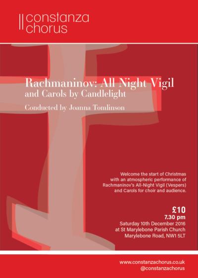 Constanza Chorus Xmas 2016 Flyer - Rachmaninov Vespers